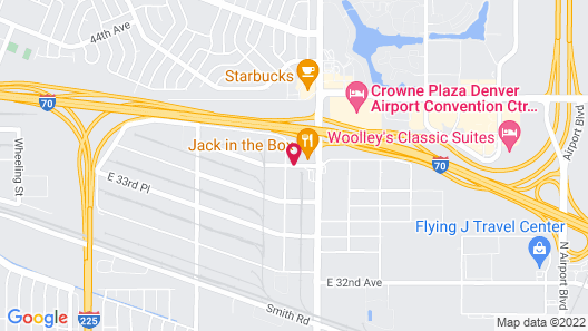 WoodSpring Suites Aurora Denver Airport Map