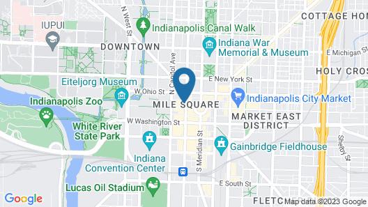 Hilton Indianapolis Hotel & Suites Map