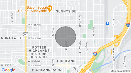 Casa Tejon, Splendid Sunnyside Seclusion Hot Tub Map