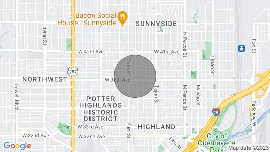 Sunnyside Retro Retreat Private Yard G Line Map