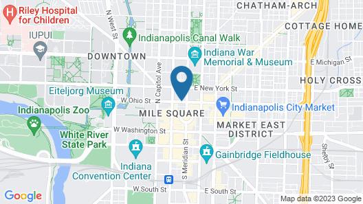 Sheraton Indianapolis City Centre Hotel Map