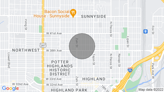 Sunnyside Apartment 2 Mi. to Downtown Denver! Map