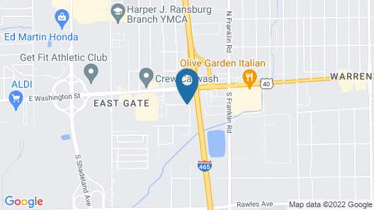 Country Inn & Suites by Radisson Indianapolis East Map