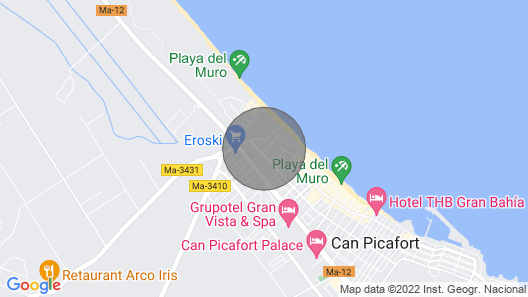 Villa in Can Picafort Very Close to the sea Map