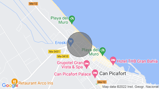 Illa in Can Picafort Very Close to the sea Map