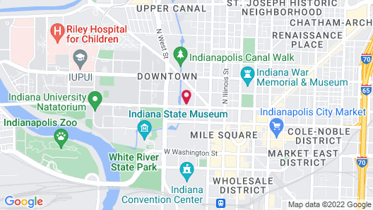 Residence Inn by Marriott Indianapolis Downtown on the Canal Map