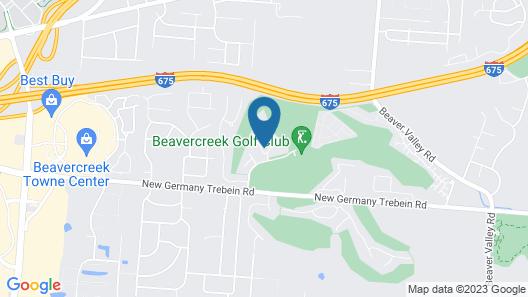 Hilton Garden Inn Dayton/Beavercreek Map
