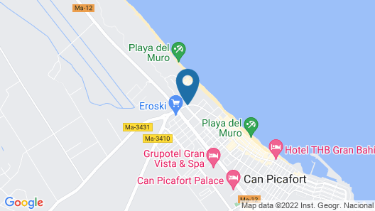 Eix Platja Daurada Hotel & Spa Map