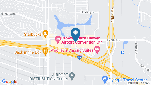 Econo Lodge Denver International Airport Map
