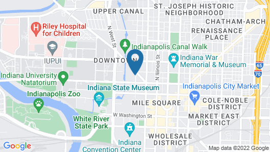 Courtyard by Marriott Indianapolis at the Capitol Map