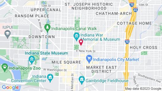 Frontdesk | 333 Penn Apts Downtown Indy's Circle Center Map