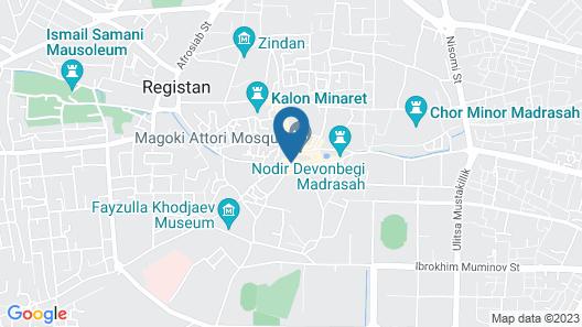 Hotel Malika Bukhara Map