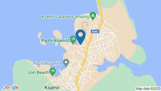 King Hotel Ksamil Map