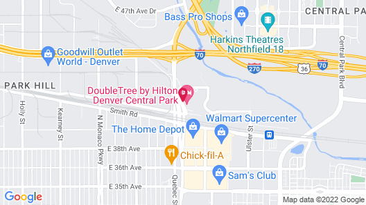DoubleTree by Hilton Denver Central Park Map