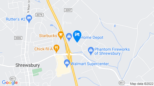 Hampton Inn Shrewsbury Map