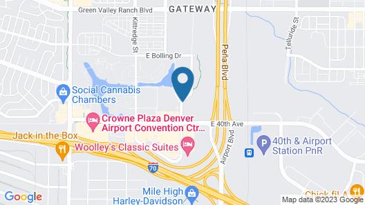 Hampton Inn & Suites Denver/Airport-Gateway Park Map