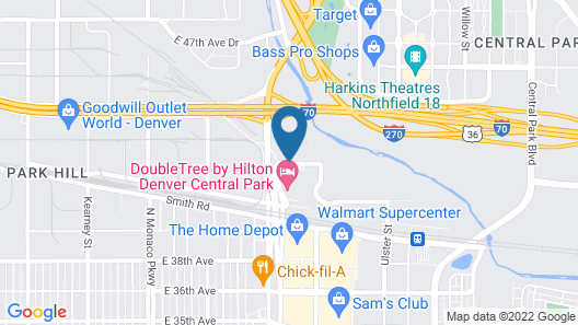 Courtyard by Marriott Denver Central Park Map