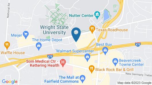 Holiday Inn Dayton/Fairborn Interstate 675, an IHG Hotel Map