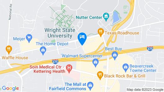 Holiday Inn Dayton/Fairborn Interstate 675 Map