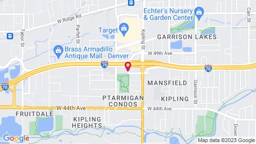 Comfort Inn Denver West Arvada Station Map