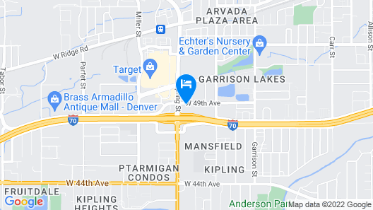 Motel 6 Wheat Ridge, CO - West - Denver North Map