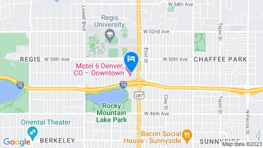 Motel 6 Denver, CO - Federal Boulevard Map