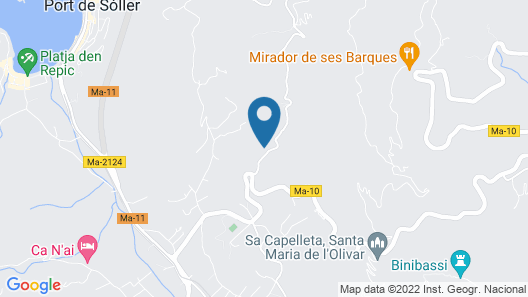 Villa Es Joncaret, House in Soller, Mallorca, Pool, Jacuzzi, Garden, Views Map