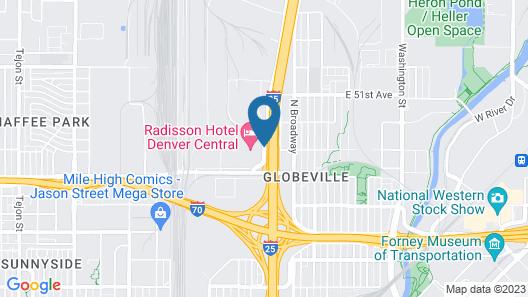 Radisson Hotel Denver Central Map