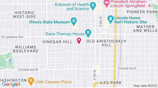 Inn at 835 Boutique Hotel Map