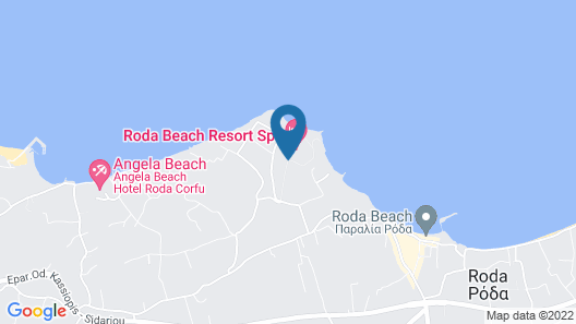 Roda Beach Resort & Spa All-inclusive Map