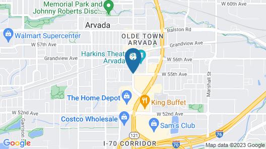 Hilton Garden Inn Arvada Denver, CO Map