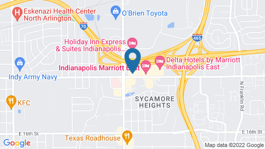 Candlewood Suites Indianapolis East, an IHG Hotel Map