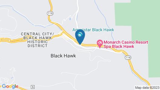 Ameristar Casino Resort Spa Black Hawk Map