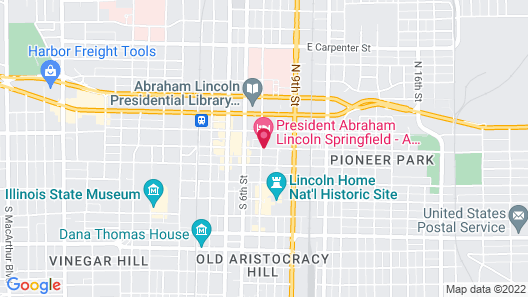 President Abraham Lincoln Springfield a DoubleTree by Hilton Map