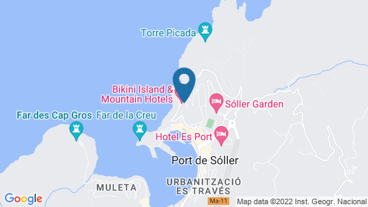 Bikini Island & Mountain Hotel Port de Sóller (Adults only) Map