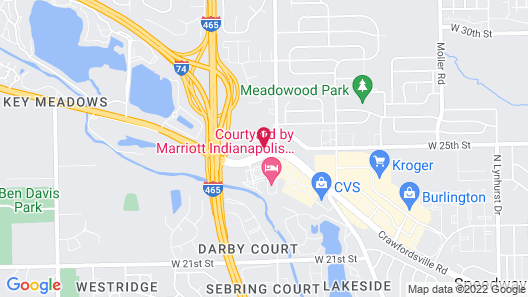 Courtyard by Marriott Indianapolis West - Speedway Map