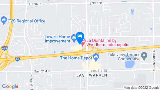 La Quinta Inn by Wyndham Indianapolis East-Post Drive Map