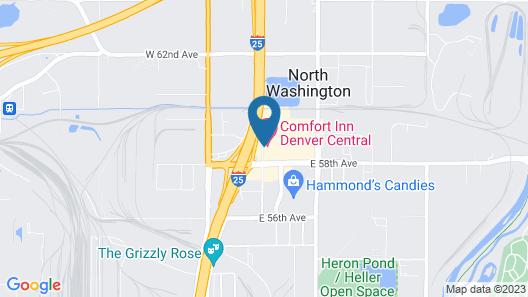 Comfort Inn Denver Central Map
