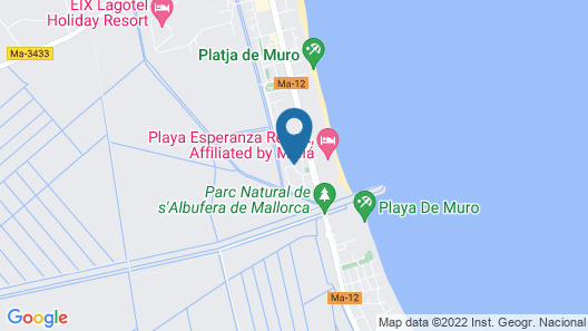 Mar Hotels Playa de Muro Suites - All Inclusive Map