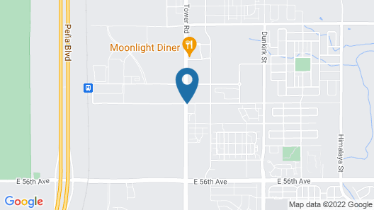 Comfort Suites Denver International Airport Map
