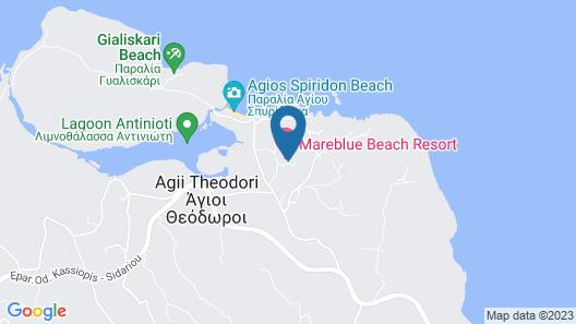 Mareblue Beach - All Inclusive Map