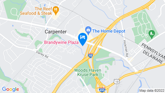 Crowne Plaza Wilmington North, an IHG Hotel Map