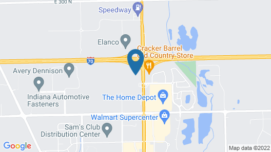 Quality Inn & Suites Greenfield I-70 Map