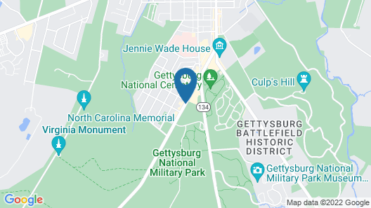 Best Western Gettysburg Map