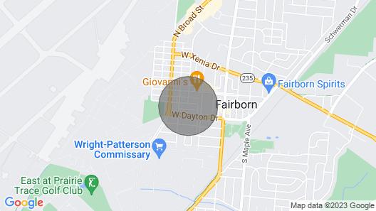 Beautiful 2BR Home Wpafb and WSU Map