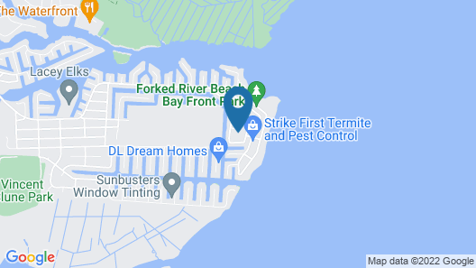 Private Forked River House W/yard - Walk to Bay! Map