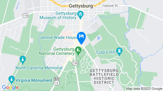 Comfort Suites Near Gettysburg Battlefield Visitor Center Map