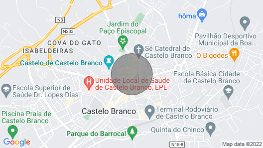 Cozy apartment in the heart of Castelo Branco Map