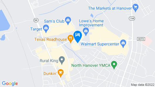 Hampton Inn Hanover Map