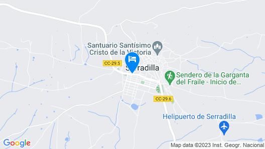 Albergue Serradilla Monfrague Map